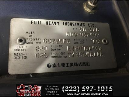 JDM 02-03 SUBARU WRX STI V7 GDB PRODRIVE RHD FRONT CLIP WITH ACCESSORIES