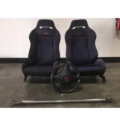 JDM DC2 ITR BLACK RECARO SEATS